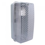 100W BC White Aluminium Clear Diffuser Outdoor Garden Bulkhead Wall Light