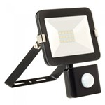 10W LED Slimline Floodlight + PIR -BLACK