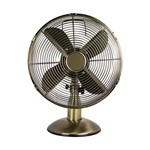 12 inch Retro Style Oscillating Portable Desk Fan - Chrome