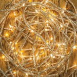 120 LED Random Twinkling Lights - Warm White / Clear Cable