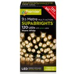 120 Multi-Function Supsbrights Festive Lights With Green Cable - Warm White