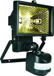 Byron ES120 - 120w Black PIR Sensor Flood Light