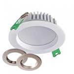 12W LED Dimmable Downlight - IP54 with selectable colour temperature & 3 Bezels