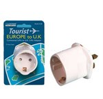 13A UK Tourist Earthed Adaptor