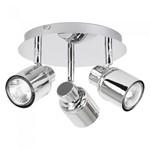 150W 3 Head GU10 Bathroom IP44 Polished Chrome Adjustable Spotlight