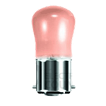 15W Pink BC Pygmy bulb
