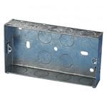 2 Gang Metal Knockout Box - 25mm