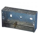 2 Gang Metal Knockout Box - 35mm