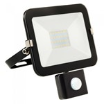 20W LED Slimline Floodlight + PIR -BLACK