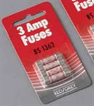 3 Amp Plug Fuses (4 Pack)