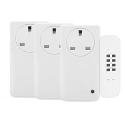 3 Wireless power switches with remote control