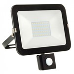 30W LED Slimline Floodlight + PIR -BLACK