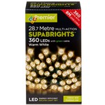 360 Multi-Function Supabrights LED Festive Lights - Warm White