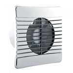 4 inch Slimline Extractor Fan with Chrome Cover - IP44