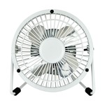 4 inch White Mini Portable Fan - White