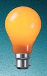 40W Amber BC GLS bulb