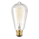 Calex 40W Clear Squirrel Cage Lamp - Bayonet Base
