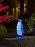 Konstsmide Outdoor Medium Standing Penguin, 96 LEDs, 45 cm - Ice White