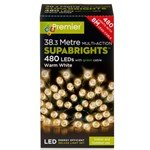 480 Multi-Function Supabrights Festive Lights With Green Cable - Warm White