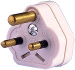 5 Amp 3 Pin White Plug Top