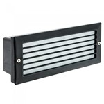 5W SMD LED Black Aluminium Grill Glass Diffuser Wall Bricklight - IP54