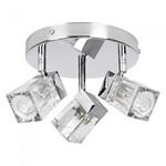 75W G9 Triple Ice Cube Polished Chrome Bathroom IP44 Ceiling Spotlight