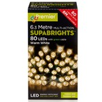 80 Multi-Function Supabrights Festive Lights With Green Cable - Warm White
