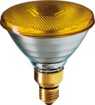 80W Yellow Par 38 Reflector Bulb
