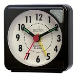 Acctim Ingot Black Travel Alarm Clock