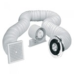 Airvent 4 inch In-Line Shower Light Fan Kit - IPX2