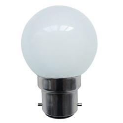 Bell 1W LED White Round - BC, 110V/240V