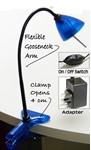 BluMagix Halogen Clip Spot Table Desk bed Lamp - Blue