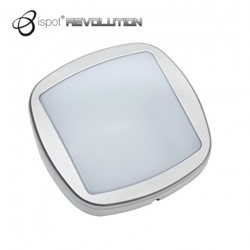 Brackenheath iSpot Revolution 10W LED Bulkhead Black/Silver 5700K 550 Lumen Outdoor Wall Light IP54