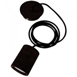 Calex - 2 Metres Industrial Black Hanging Cord Set - E40 Lampholder