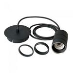 Calex - 2 Metres Industrial Black Hanging Cord Set - ES Lampholder