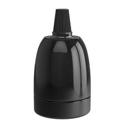 Calex Lampholder E27 - ceramic black