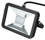 Deltech Slimline LED Floodlight 10W Black Body - Amber