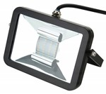 Deltech Slimline LED Floodlight 10W Black Body - Red