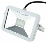 Deltech Slimline LED Floodlight 10W White Body - Warm White