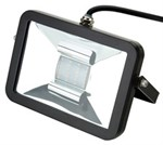 Deltech Slimline LED Floodlight 20W Black Body - Warm White
