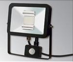 Deltech Slimline LED PIR Floodlight 10W Black Body - Daylight
