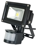Deltech Slimline LED PIR Floodlight 30W Black Body - Warm White
