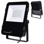 Dual Voltage REX 100W LED Slim Floodlight with Photocell