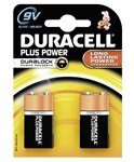 Duracell MN1604 Plus Power 9v Batteries - Pack of 2