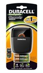 Duracell CEF27-UK Speedy 1 Hour Battery Charger with 2 x AA and 2 x AAA Stay-Charged Batteries