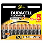 Duracell Plus AA 15 + 5 Free