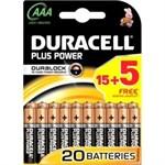 Duracell Plus AAA 15+5