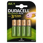 Duracell 1300mAh AA Size Rechargeable Batteries  -Pack of 4