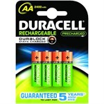Duracell Staycharged AA 2400mah (pack 4)