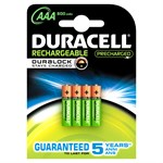Duracell Staycharged AAA 800mah (pack 4)